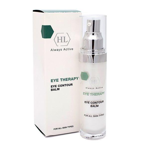 Holy Land Бальзам для век Eye Therapy Eye Contour Balm, 30 мл116058Специальный гипоаллергенный препарат для ухода за кожей век и губ.Действие:Смягчает и выравнивает кожу вокруг глаз.Уменьшает и предотвращает раздражение.Тонизирует кожу, уменьшает признаки усталости.Нормализует кровообращение, уменьшает отечность.Уменьшает выраженность морщин вокруг глаз, устраняет сухость и шелушение.Активные компоненты: экстракт зеленого чая, экстракт арники, экстракт календулы, экстракт дикой розы, лактат натрия, сорбитол, глицерин, молочная кислота, серин, мочевина, глицин, глюкоза, аллантоин, соевое масло, ретинил пальмитат, сафлоровое масло, линолевая кислота, токоферол, масло календулы, экстракт женьшеня, экстракт облепихи, гидролизованные пшеничные протеины, гиалуроновая кислота.