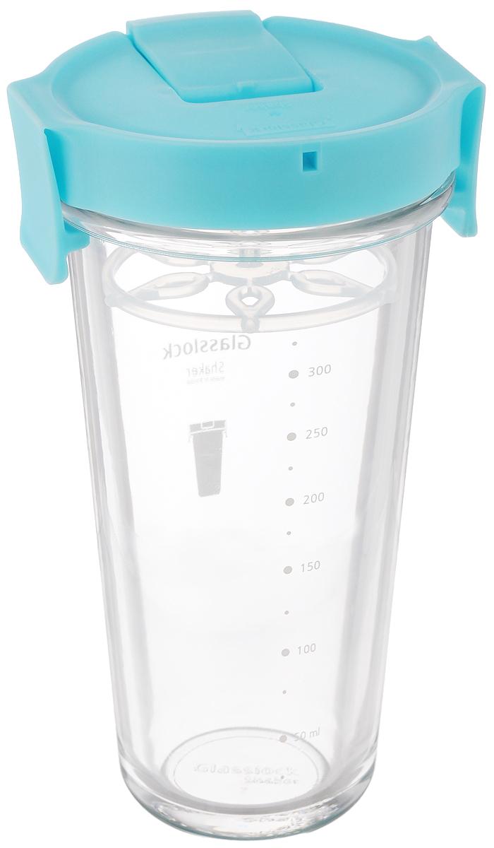 Шейкер Glasslock, цвет: прозрачный, голубой, 450 млPC-318S (PC-818)Шейкер Glasslock, изготовленный из высококачественного стекла, выполнен в виде стаканчика. Герметичная крышка снабжена закрывающимся отверстием для питья, в которое также можно вставить трубочку. Сбоку расположена шкала с мерными делениями. Шейкер предназначен для приготовления холодных напитков и идеально подходит для того, чтобы взять с собой в дорогу воду, морс, смузи, шейк. Вы любитель коктейлей, но времени сходить в бар у вас нет? Не расстраивайтесь. С помощью этого шейкера вы сможете приготовить самый экзотический смешанный напиток у себя дома, чем приятно удивите гостей, родных и близких вам людей. Почувствуйте себя профессиональным барменом! Диаметр шейкера (по верхнему краю): 8,8 см. Диаметр основания шейкера: 5,5 см. Высота шейкера (с учетом крышки): 17 см.
