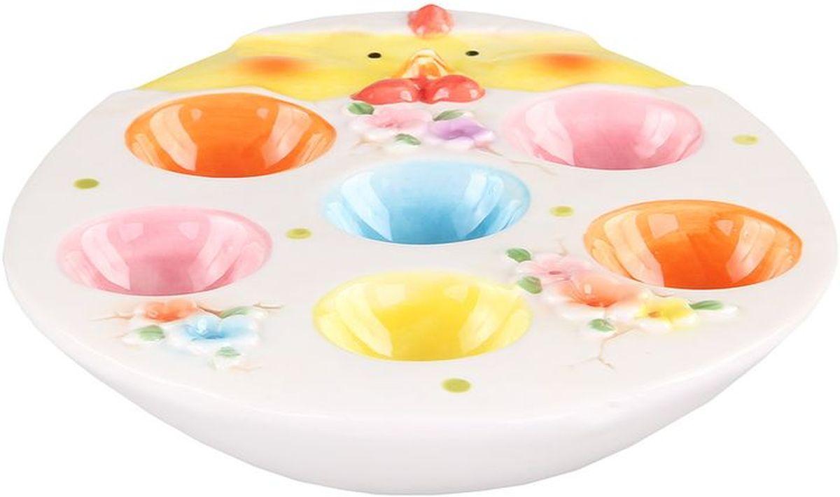 Тарелка для 6-ти яиц 21*17*35 см PATRICIAIM16-0003Тарелка для яиц выполнена и керамики. С помощью этого изделия вы сможете подать яйца и украсить стол одновременно.