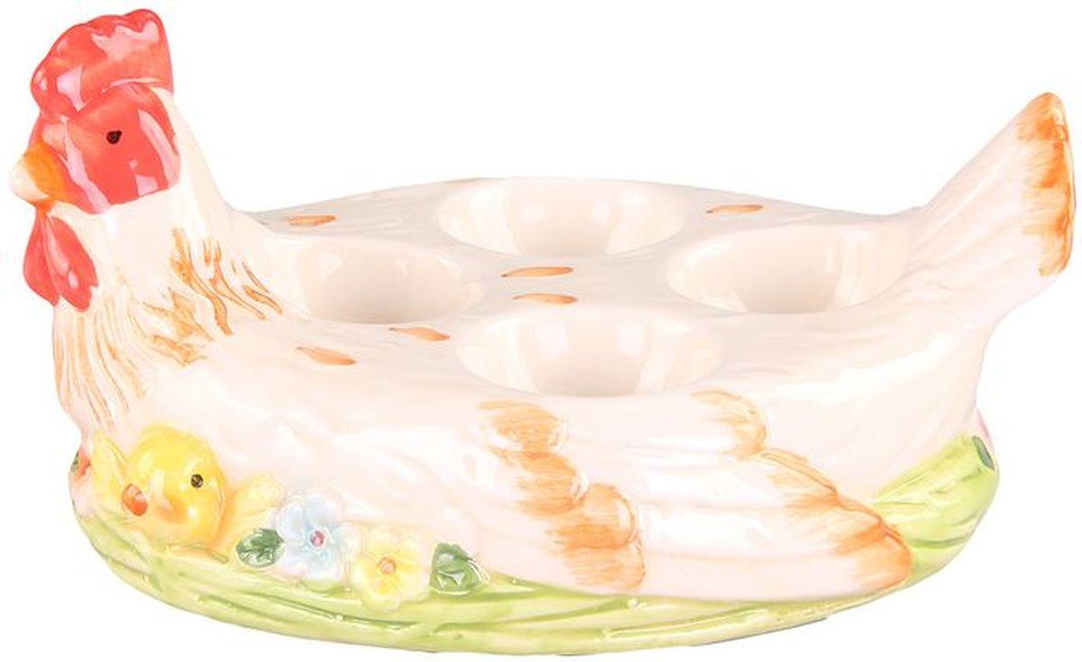 Подставка для 4-ёх яиц 185*15*95 см PATRICIAIM16-0106Подставка для яиц выполнена из керамики.С ее помощью вы сможете подать яйца и украсить стол одновременно.