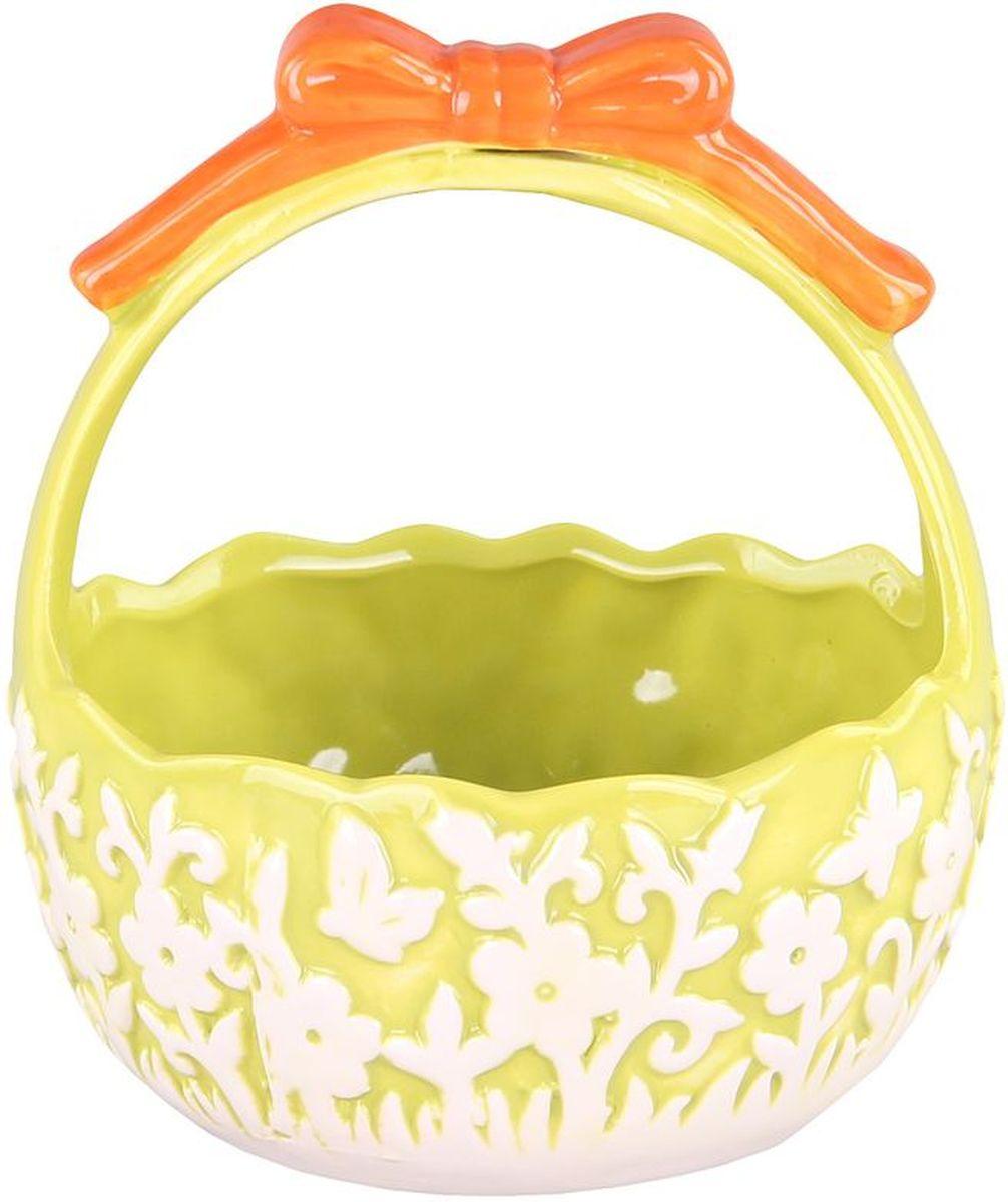 Корзинка с ручкой 135*135*155 см PATRICIAIM16-0300Корзинка выполнена из керамики. В светлый праздник Пасхи,она станет украшением вашего стола.