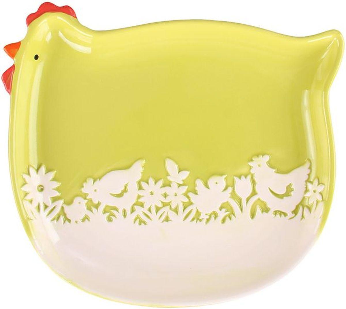 Блюдо 24 х 24 х 3 см PATRICIAIM16-0311Блюдо выполнено из керамики. В светлый праздник Пасхи,оно станет украшением вашего стола.