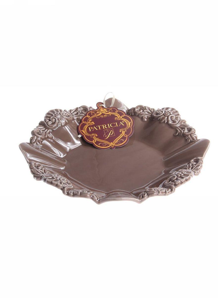 Блюдо круглое 265*265*45 см PATRICIAIM18-0108Блюдо круглое выполнено из доломита. С помощью данного изделия вы сможете подать торт или пироженые самым изысканным способом. Благодаря нетривиальному дизайну изделие несет не только функциональную но и эстетическую нагрузку.