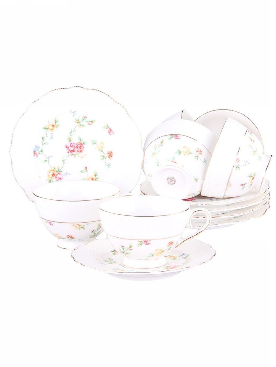 Набор чайный 12 предметов 200 мл PATRICIAIM52-2600Набор включает в себя 12 предметов: 6 чашек (200мл.) и 6 блюдец. Изделия выполнены из фарфора безупречной белизны. Чашки и блюдца украшены золотым декором. Набор имеет подарочную упаковку. Внимание! Изделия нельзя использовать в посудомоечной машине.