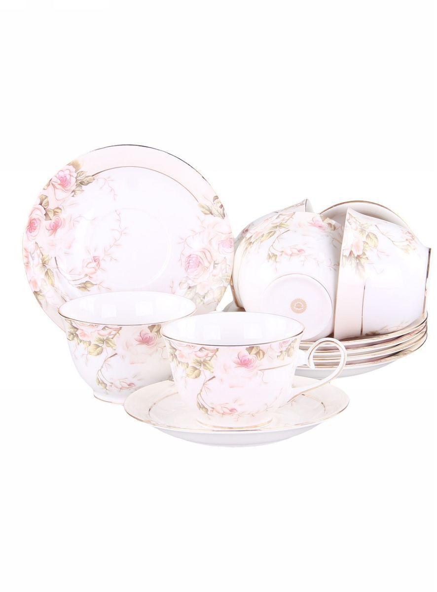 Набор чайный 12 предметов 200 мл PATRICIAIM52-2700Набор включает в себя 12 предметов: 6 чашек (200мл.) и 6 блюдец. Изделия выполнены из фарфора безупречной белизны. Чашки и блюдца украшены золотым декором. Набор имеет подарочную упаковку. Внимание! Изделия нельзя использовать в посудомоечной машине.