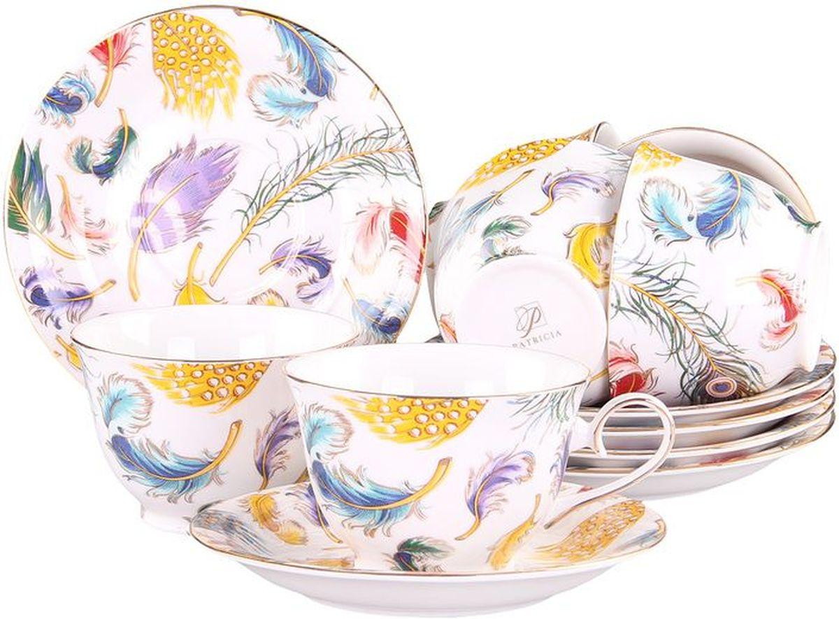 Набор чайный 12 предметов 240 мл PATRICIAIM52-2800Набор включает в себя 12 предметов: 6 чашек (240мл.) и 6 блюдец. Изделия выполнены из фарфора безупречной белизны. Чашки и блюдца украшены графичным декором и позолотой . Набор имеет подарочную упаковку. Внимание! Изделия нельзя использовать в посудомоечной машине.
