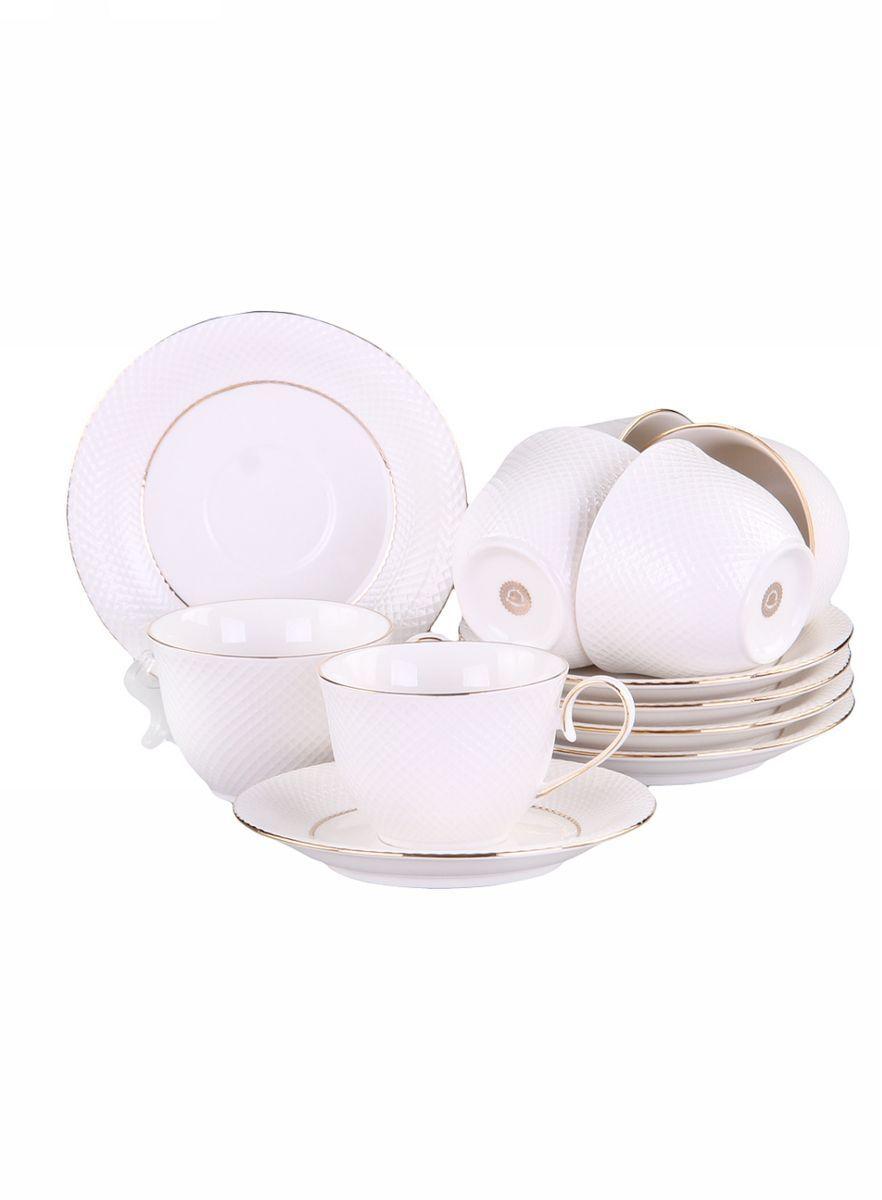 Набор кофейный 12 предметов 120 мл PATRICIAIM520025Набор включает в себя 12 предметов: 6 чашек (120мл.) и 6 блюдец. Изделия выполнены из фарфора безупречной белизны. Поверхности чашек и блюдец имеют рельеф в виде сетки, изделия дополнительно украшены позолотой. Набор имеет подарочную упаковку. Внимание! Изделия нельзя использовать в посудомоечной машине.
