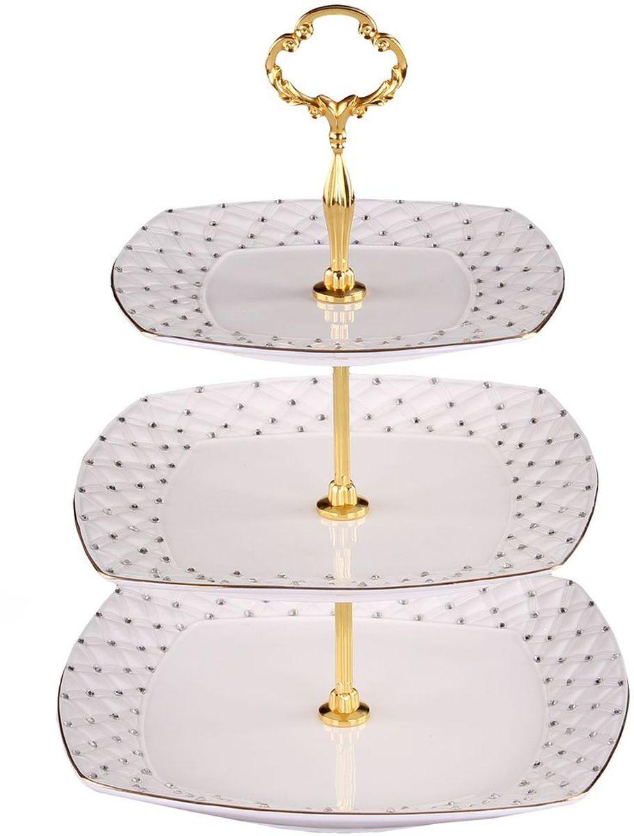 Этажерка 3-ёх ярусная 19*21*25 см PATRICIAIM553028Эта этажерка прекрасно подойдет для сервировки вашего стола сладостями или небольшими закусками.