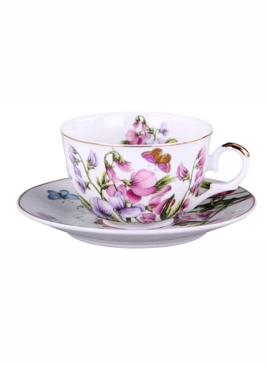 Набор чайный 2 предмета 250 мл PATRICIAIM56-0405Набор включает себя чашку и блюдце в подарочной упаковке. Изделия украшены цветочным декором с позолотой. Этот комплект может стать практичным и недорогим подарком.