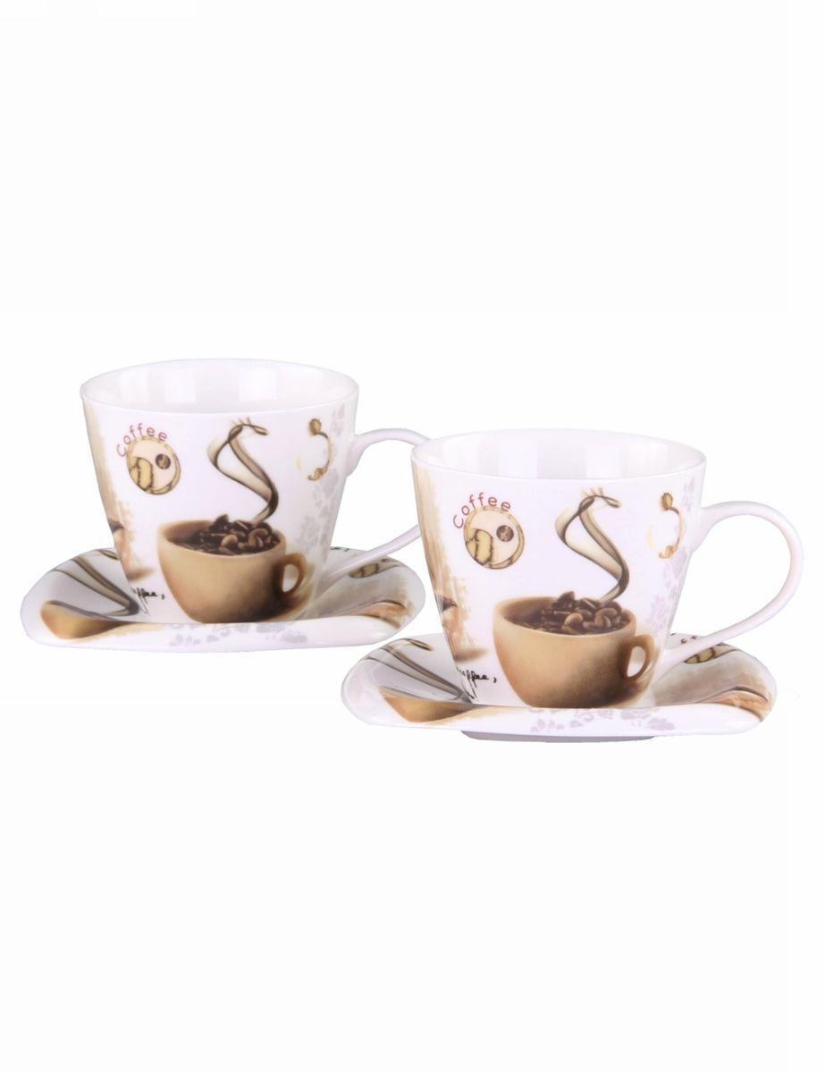 Чайный набор 4 предмета 220мл PATRICIAIM216Этот чайный набор идеален для чаепития вдвоем. Набор включает в себя 2 чашки (220мл.) и 2 блюдца. Изделия выполнены из фарфора. Все элементы набора украшены принтом в духе постмодернизма. Набор имеет подарочную упаковку принт которой повторяет декор изделий.