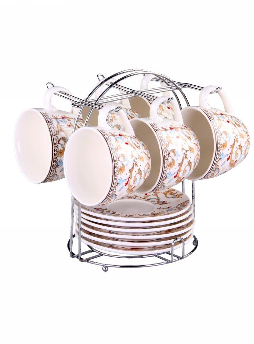 Набор чайный 12 предметов 240 мл на металлической подставке PATRICIA. IM57-0100IM57-0100Чайный набор выполнен из фарфора высшего качества,украшен экзотическим узором. Благодаря металлической подставке он впишется в любой уголок вашей кухни и станет стильным дополнением к ней.