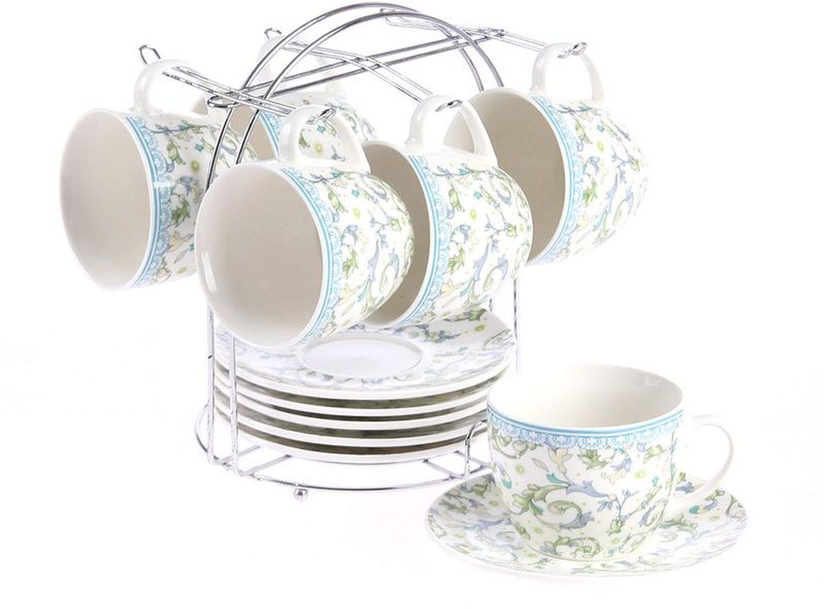 Набор чайный 12 предметов 240 мл на металлической подставке PATRICIA. IM57-0101IM57-0101Чайный набор выполнен из фарфора высшего качества,украшен экзотическим узором. Благодаря металлической подставке он впишется в любой уголок вашей кухни и станет стильным дополнением к ней.