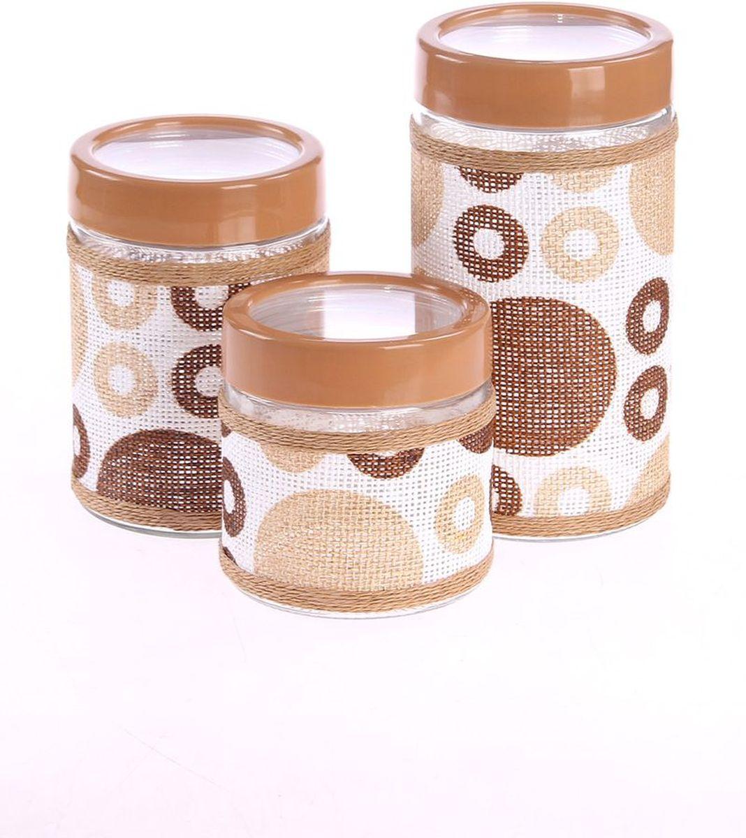 Набор банок для сыпучих продуктов 3 предмета PATRICIAIM99-3902