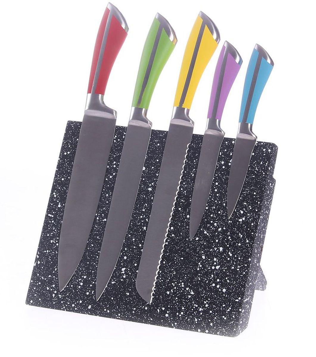 Набор ножей 6 предметов (на магнитной доске), шт, PATRICIAIM99-4701Набор ножей включает в себя 5 ножей, выполненных из высококачественной стали и магнитную подставку. Нож всегда был незаменимым атрибутом на кухне .Этот набор станет отличным подарком.