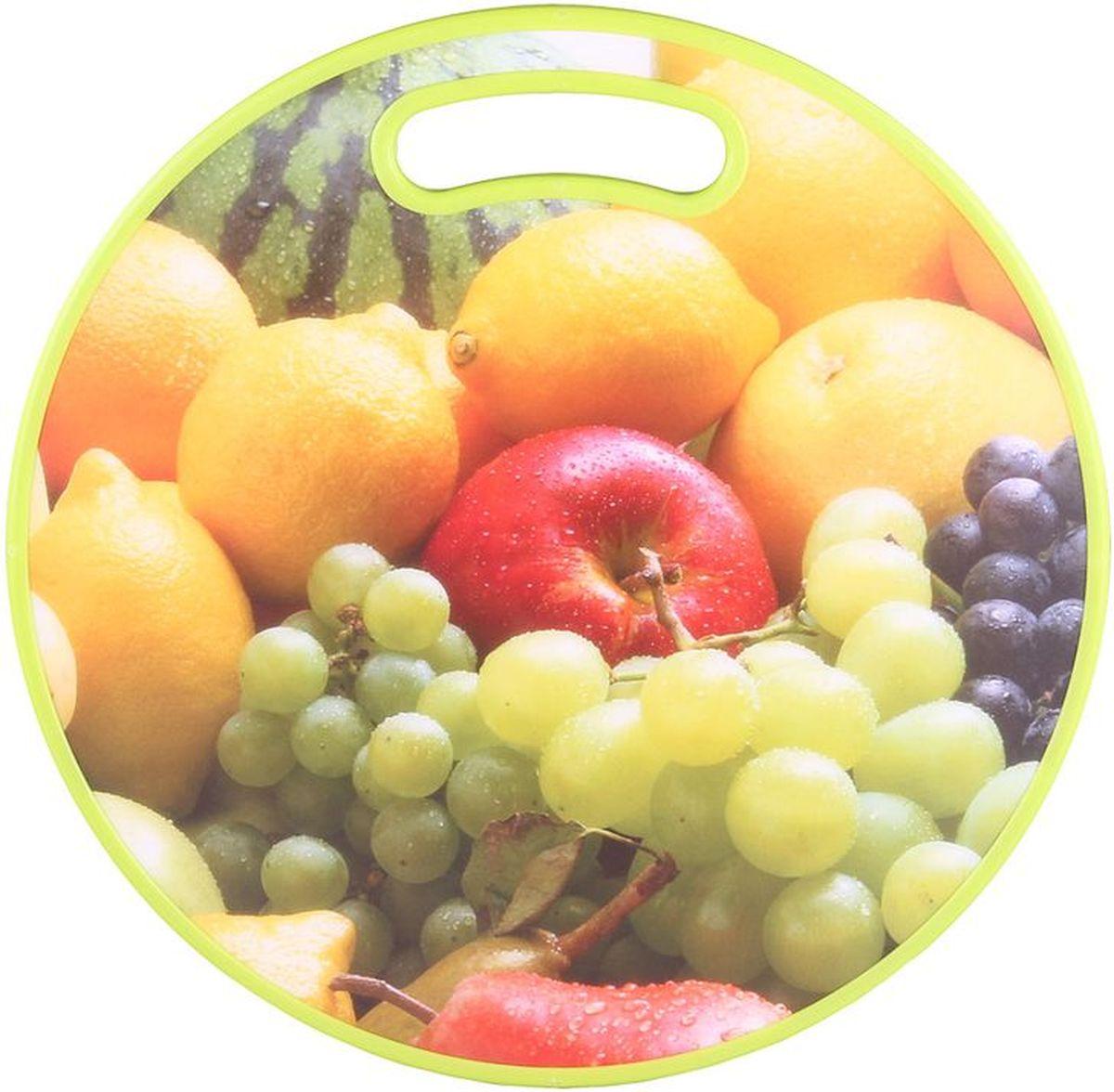 Доска разделочная D=35 см PATRICIAIM99-4712Разделочная доска в основном служит для нарезания продуктов питания,так же можно использовать как подставку под горячие сковороды.Разделочная доска является неотъемлемым атрибутом любой кухни.