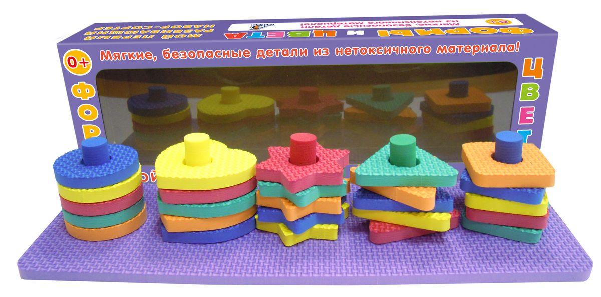 Робинс Настольная игра Мой первый развивающий набор-сортер Формы и цвета4607058376680Набор состоит из деталей разной формы и цветов.