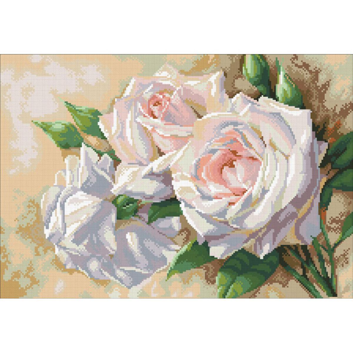 Набор для изготовления картины со стразами Паутинка Античные розы, 52 х 36 см486470Состав набора: мозаика — 30 цветов, холст с нанесенным рисунком и клеевым слоем, пинцет, подробная инструкция.