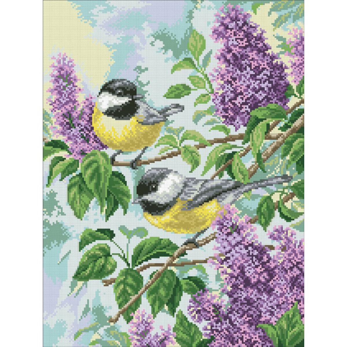 Набор для изготовления картины со стразами Паутинка Синички , 49 х 37 см486477Состав набора: мозаика — 27 цветов, холст с нанесенным рисунком и клеевым слоем, пинцет, подробная инструкция.