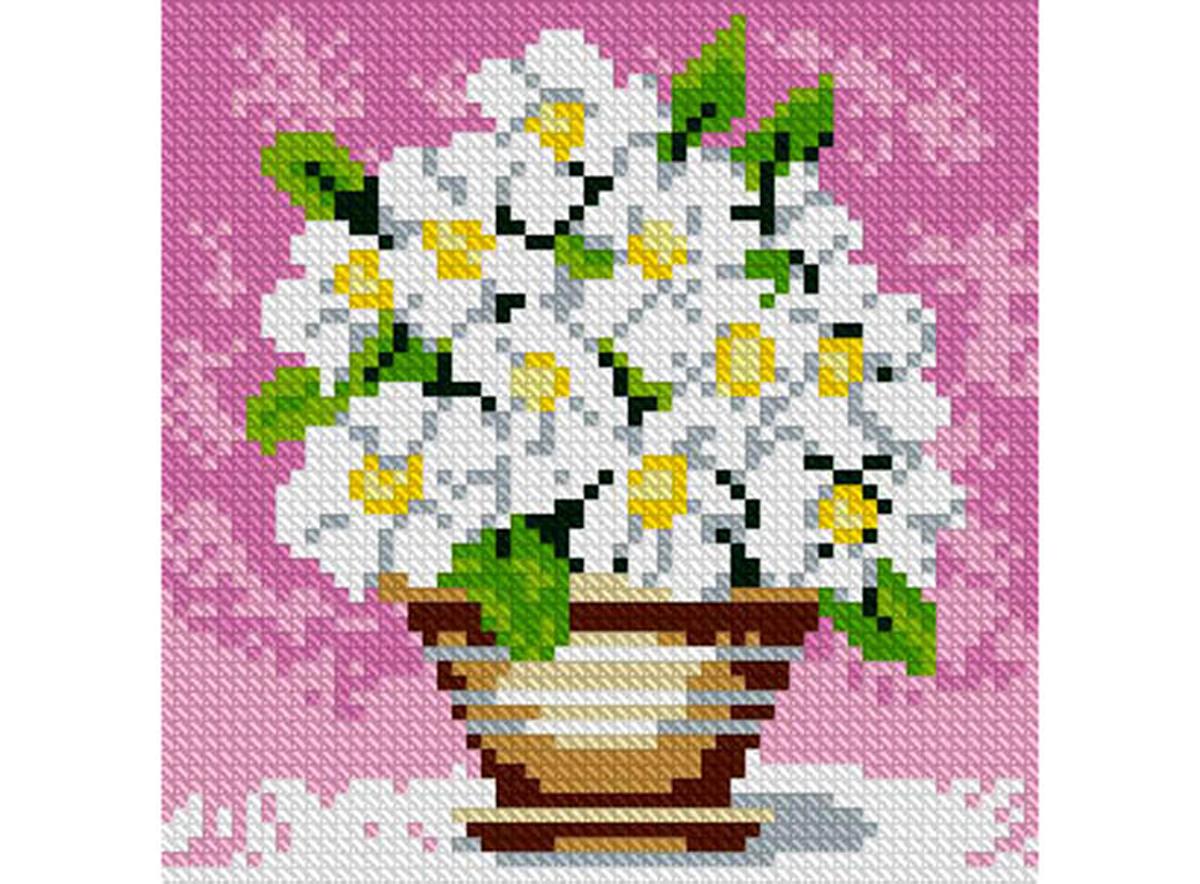Набор для изготовления картины со стразами Алмазная Живопись Полевые цветы, 15 х 15 см486636В состав набора входит: полотно-схема с клеевым слоем, с условными обозначениями, инструкция, пластиковое блюдце, пинцет, упакованные стразы.