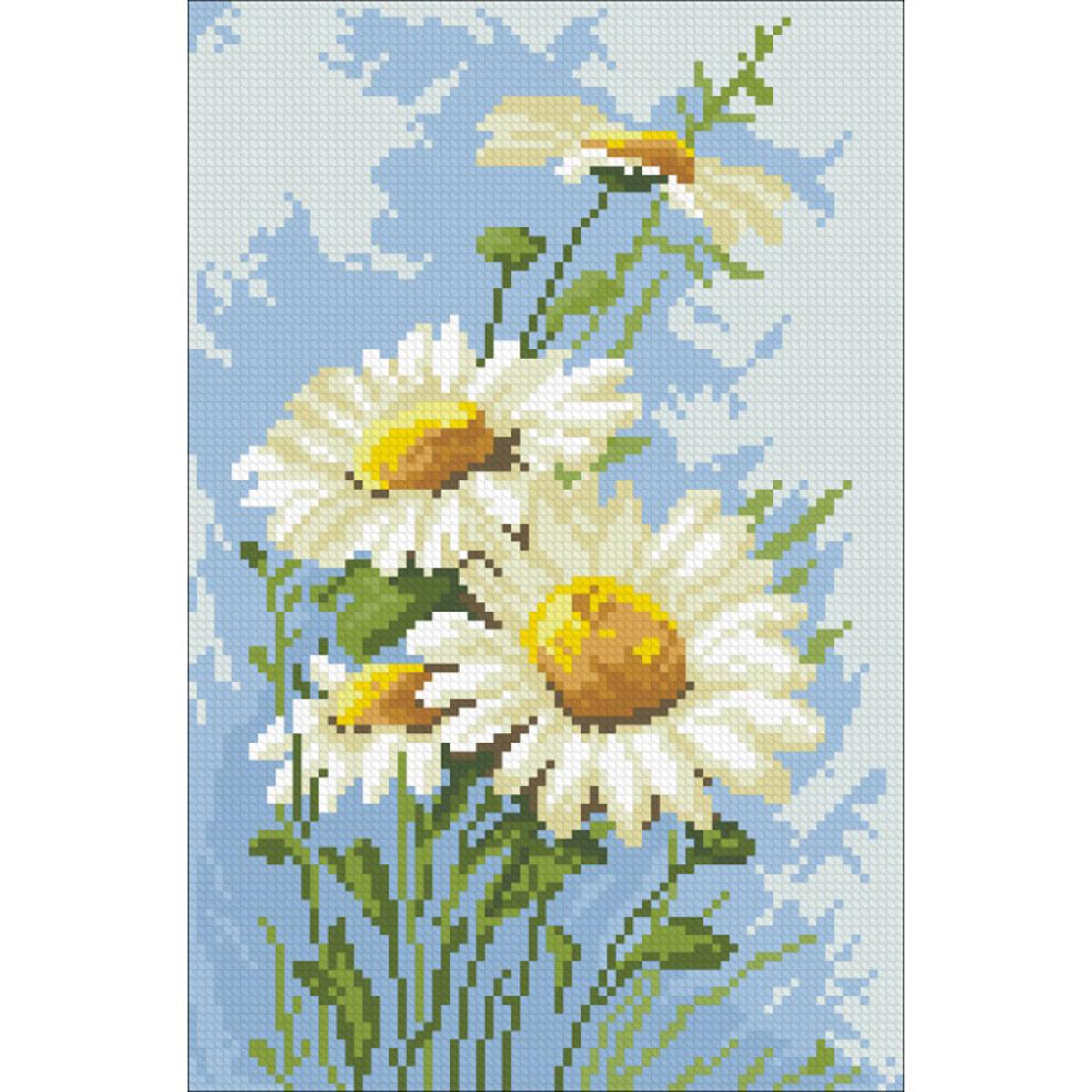 Набор для изготовления картины со стразами Паутинка Ромашки , 29 х 19 смМ-204/486723Состав набора: мозаика — 16 цветов, холст с нанесенным рисунком и клеевым слоем, пинцет, подробная инструкция.