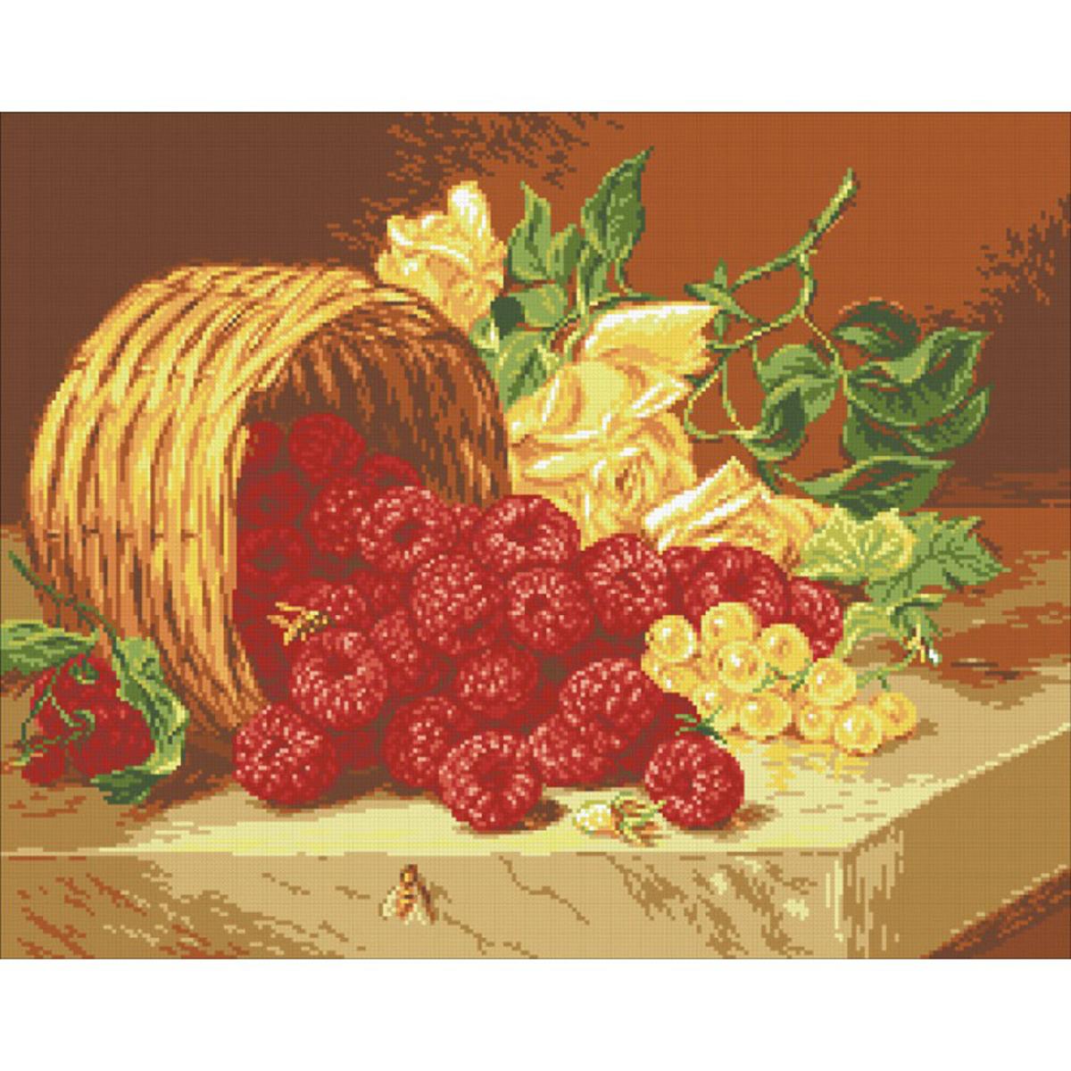 Набор для изготовления картины со стразами Паутинка Малина , 46 х 58 см486728Состав набора: мозаика — 20 цветов, холст с нанесенным рисунком и клеевым слоем, пинцет, подробная инструкция.