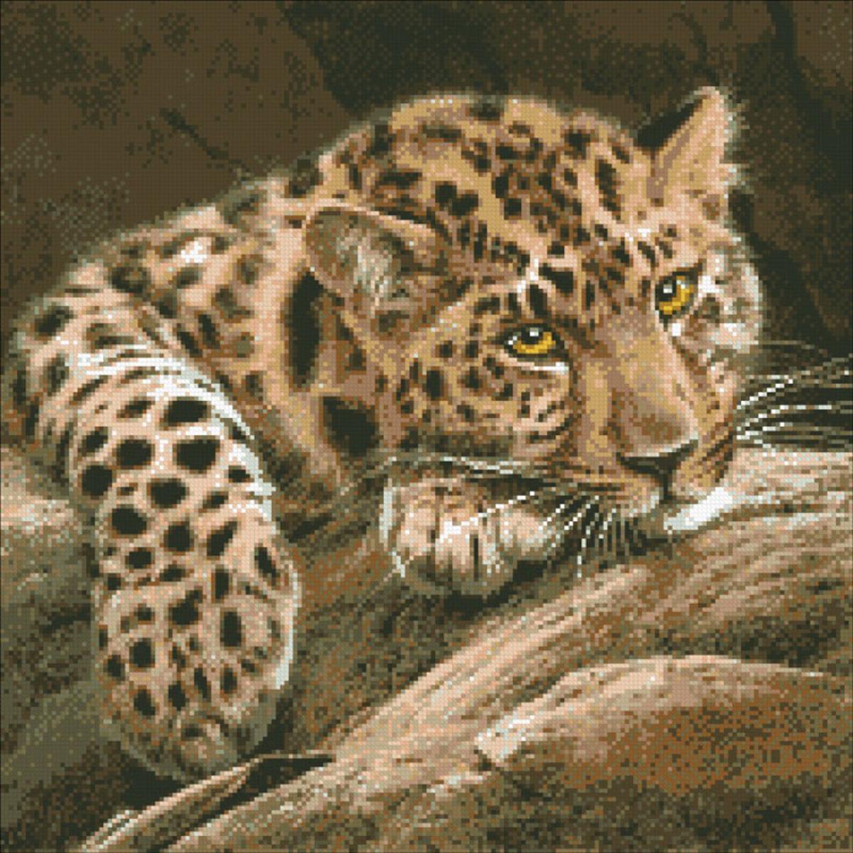 Набор для изготовления картины со стразами Паутинка Леопард , 46 х 46 см486730Состав набора: мозаика — 20 цветов, холст с нанесенным рисунком и клеевым слоем, пинцет, подробная инструкция.