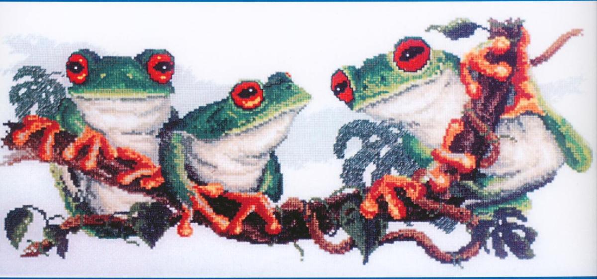 Набор для изготовления картины со стразами Паутинка Лягушки , 55 х 25 см486948Состав набора: мозаика — 26 цветов, холст с нанесенным рисунком и клеевым слоем, пинцет, подробная инструкция.