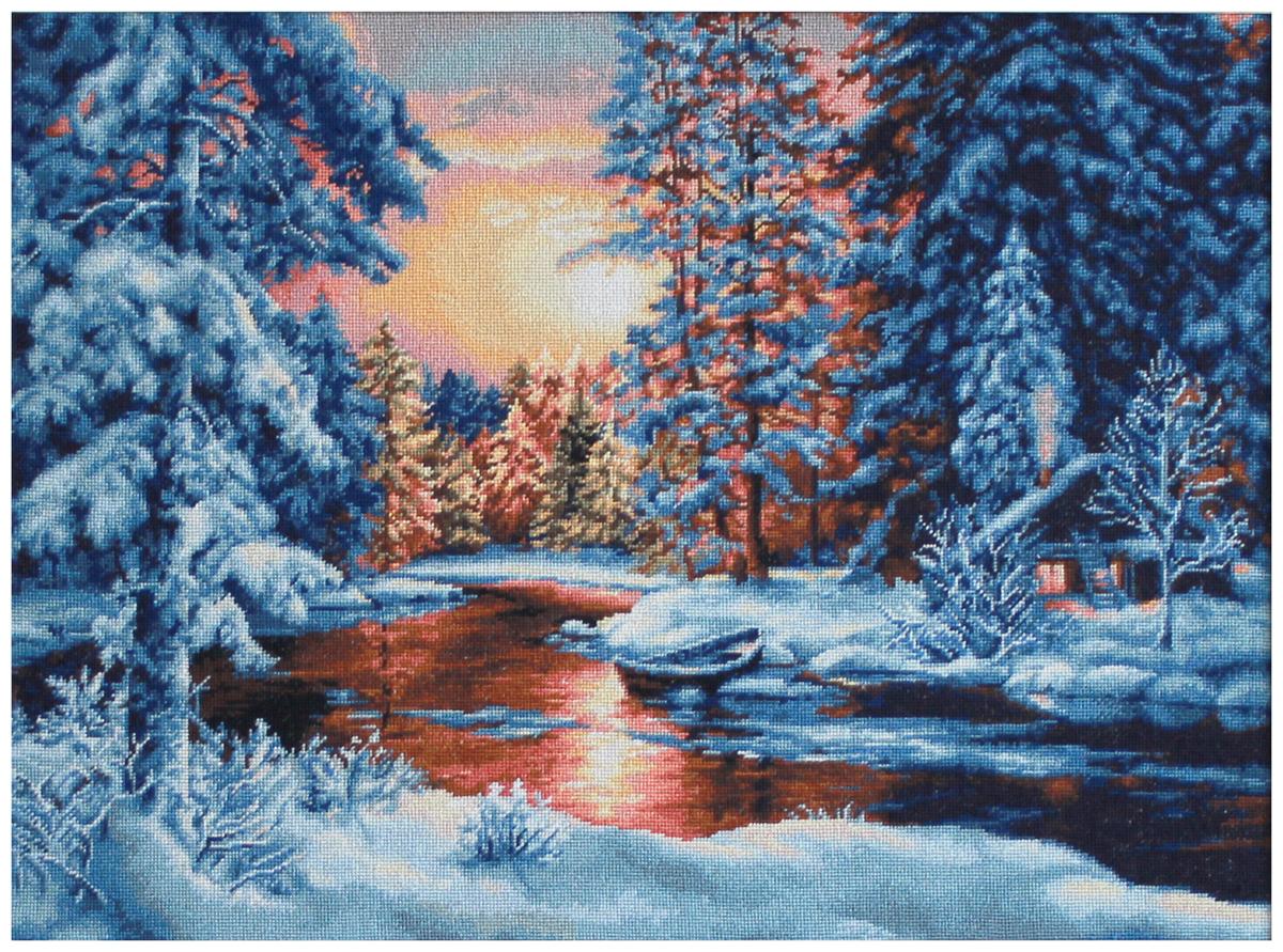 Набор для изготовления картины со стразами Паутинка Зимний вечер, 53 х 38 см486950Состав набора: мозаика — 32 цвета, холст с нанесенным рисунком и клеевым слоем, пинцет, подробная инструкция.