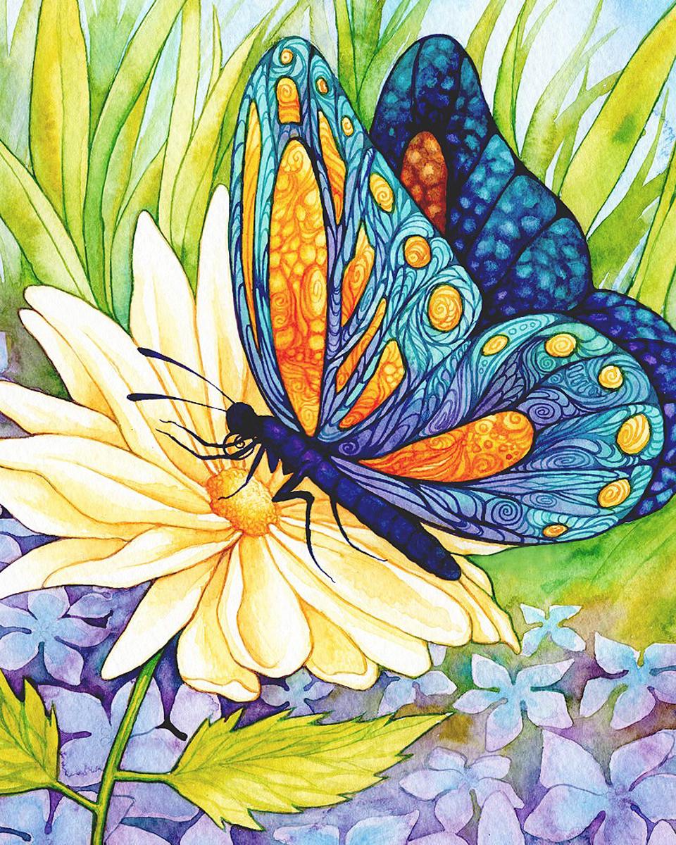 Набор для изготовления картины со стразами Алмазная Живопись Бабочка и цветок, 30 х 37 см494779В состав набора входит: полотно-схема с клеевым слоем, с условными обозначениями, инструкция, пластиковое блюдце, пинцет, упакованные стразы.