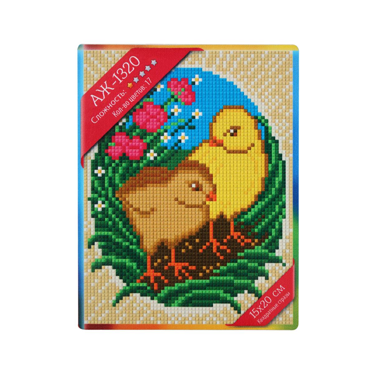 Набор для изготовления картины со стразами Алмазная Живопись Пасхальные цыплята, 15 х 20 см498187В состав набора входит: полотно-схема с клеевым слоем, с условными обозначениями, инструкция, пластиковое блюдце, пинцет, упакованные стразы.