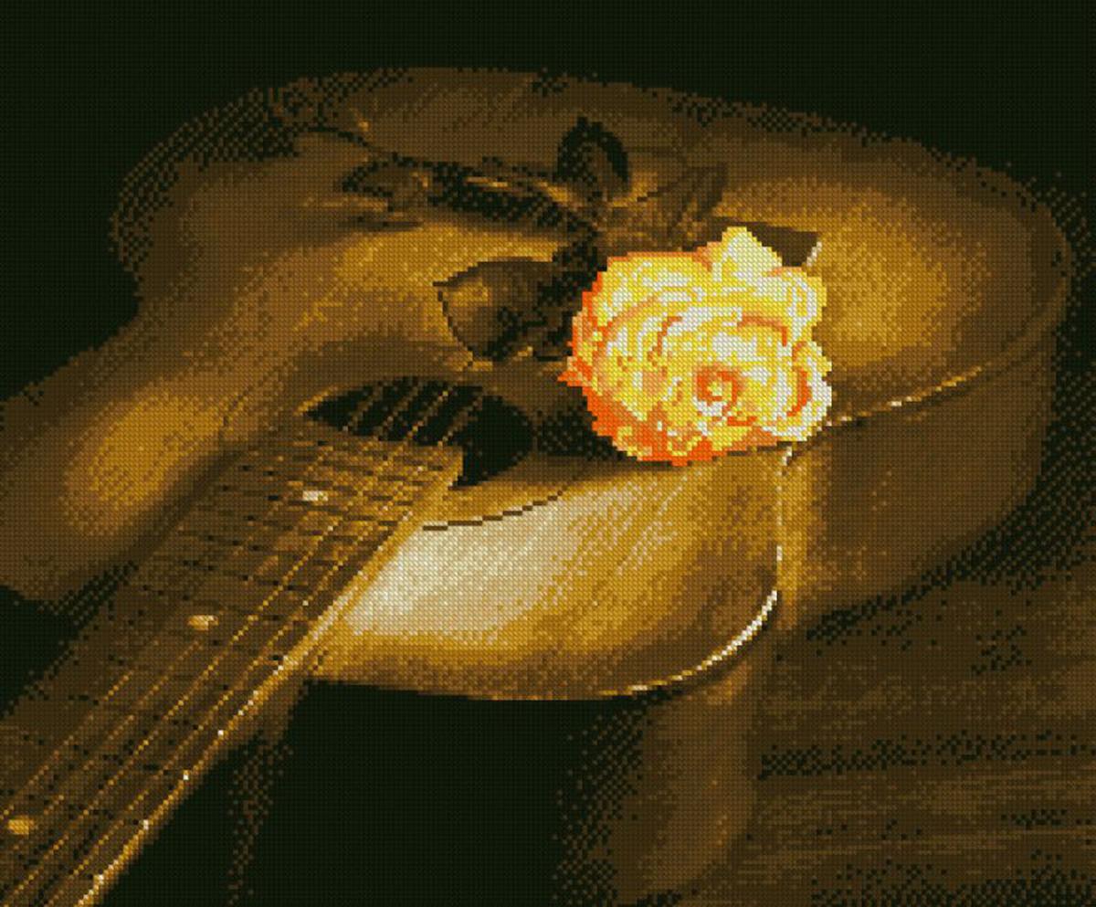 Набор для изготовления картины со стразами Алмазная Живопись Гитара и роза, 47 х 56 см581917В состав набора входит: полотно-схема с клеевым слоем, с условными обозначениями, инструкция, пластиковое блюдце, пинцет, упакованные стразы.