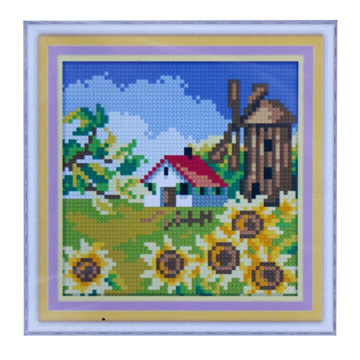 Набор для изготовления картины со стразами Cristal, 15 х 15 см. 77147617714761