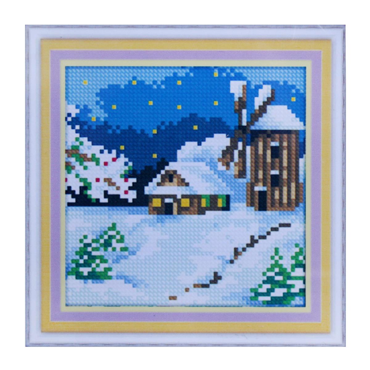 Набор для изготовления картины со стразами Cristal, 15 х 15 см. 77147637714763