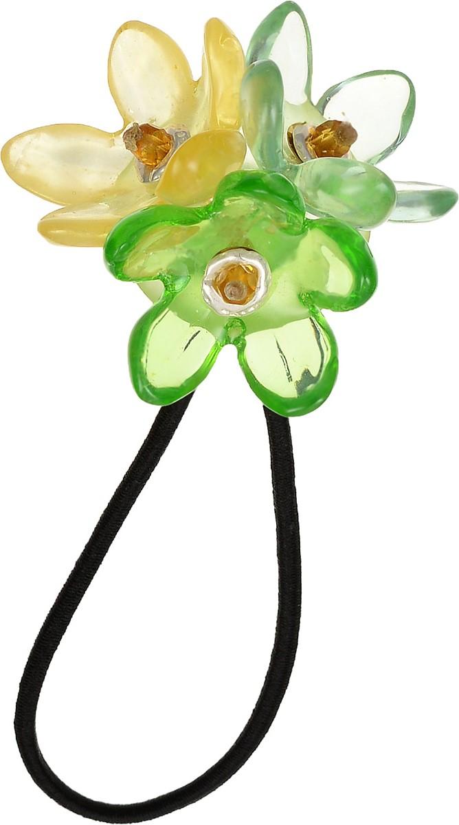 Резинка для волос Lalo Treasures, цвет: черный, зеленый, желтый. HB4580HB4580Яркая дизайнерская резинка для волос от Lalo Treasures станет отличным дополнением к вашему стилю. Резинка изготовлена качественной ювелирной смолы и текстиля. Украшение резинки составлено из трех цветков. Оригинальный дизайн позволит вашему образу быть ещё ярче и создать собственный неповторимый стиль.