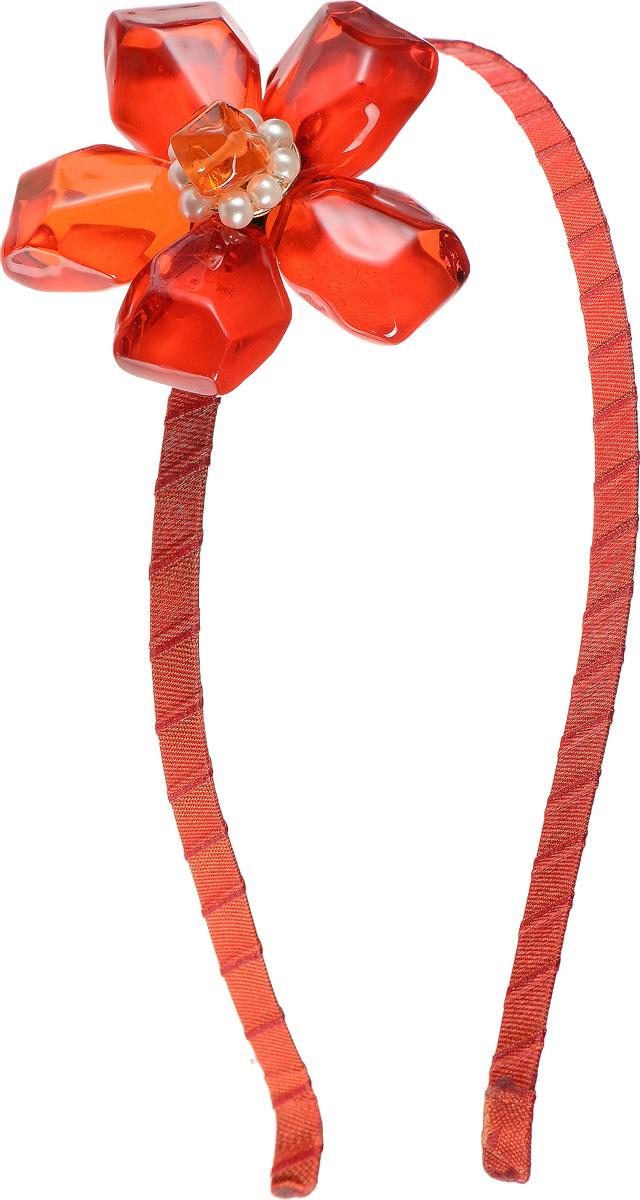 Ободок для волос Lalo Treasures, цвет: красный. оранжевый. HR4562HR4562Яркий дизайнерский ободок для волос Lalo Treasures станет отличным дополнением к вашему стилю. Ободок изготовлен из качественной ювелирной смолы, металлического сплава и текстиля. Декоративная часть ободка изготовлена в виде цветка, составленного из камней. Ободок очень удобен при ношении, благодаря мягкому текстильному покрытию. Оригинальный дизайн позволит вашему образу быть ещё ярче.