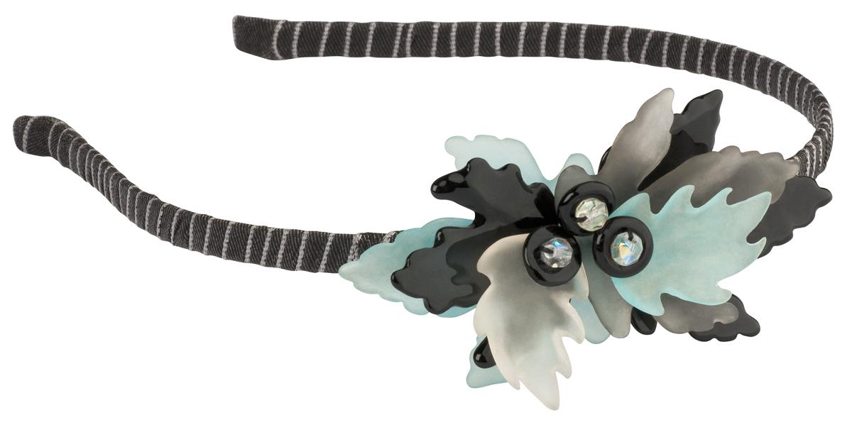 Обруч для волос Lalo Treasures Autumn, цвет: серый, черный. HR4572HR4572Яркие дизайнерские акссесуары от Lalo Treasures станут отличным дополнением к Вашему стилю