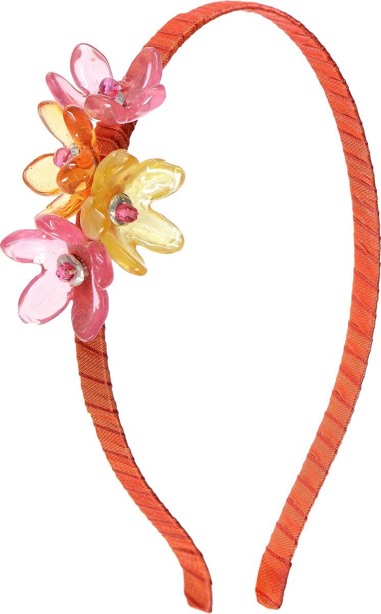 Ободок для волос Lalo Treasures, цвет: оранжевый. HR4583HR4583Яркий дизайнерский ободок для волос Lalo Treasures станет отличным дополнением к вашему стилю. Ободок изготовлен из качественной ювелирной смолы, металлического сплава и текстиля. Декоративная часть ободка изготовлена в виде нескольких цветков разного цвета. Ободок очень удобен при ношении, благодаря мягкому текстильному покрытию. Оригинальный дизайн позволит вашему образу быть ещё ярче.