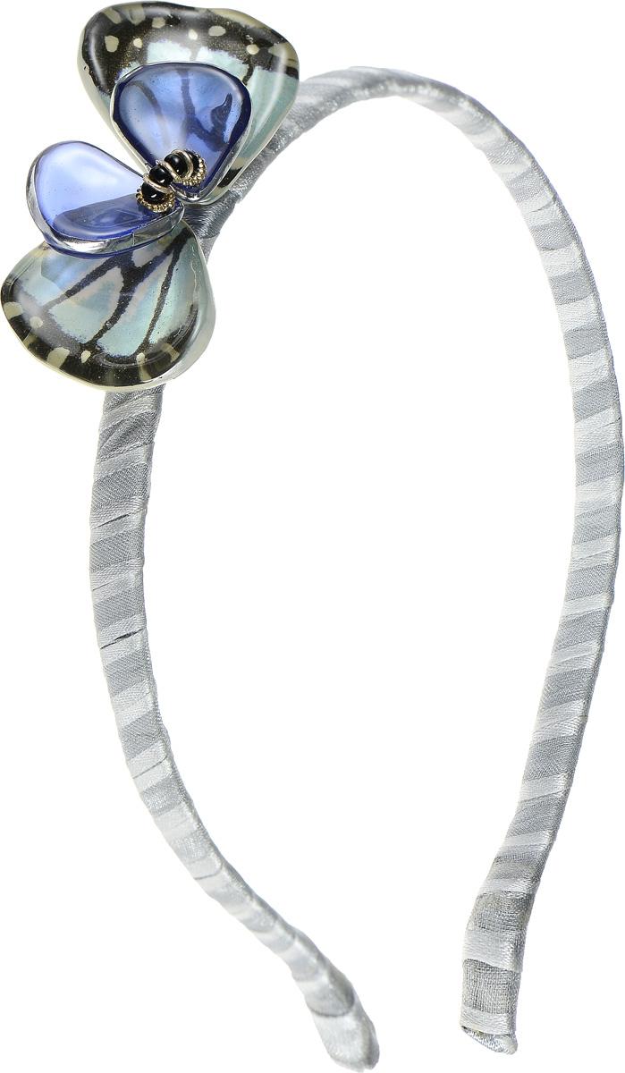 Ободок для волос Lalo Treasures, цвет: серый, голубой. HR4584HR4584Яркий дизайнерский ободок для волос Lalo Treasures станет отличным дополнением к вашему стилю. Ободок изготовлен из качественной ювелирной смолы, металлического сплава и текстиля. Декоративная часть ободка составлена в виде бантика. Ободок очень удобен при ношении, благодаря мягкому текстильному покрытию. Оригинальный дизайн позволит вашему образу быть ещё ярче.