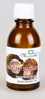 Масло Какао 25мл4650001794031Масло какао замечательно питает, увлажняет, смягчает, оживляет, и тонизирует кожу, делает ее более нежной, гладкой и сияющей; обладает разглаживающими свойствами; отлично подходит для ухода за кожей вокруг глаз; ускоряет процесс восстановления поврежденных клеток кожи.