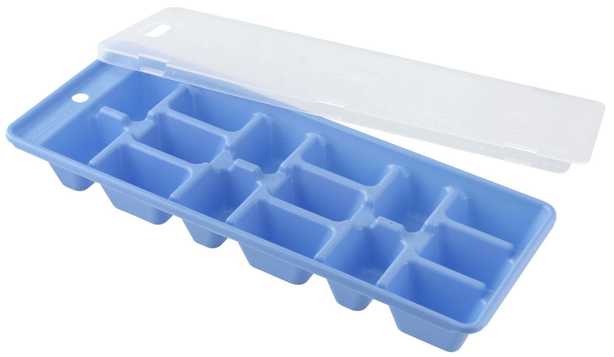 Форма для льда Fackelmann с крышкой, 15 ячеек, цвет: голубой, 25 х 10 см49368Форма для льда Fackelmann выполнена из пластика и оснащена удобной герметичной крышкой. Кубиками льда можно не только охладить, но и украсить любой напиток. В формочки при заморозке воды можно помещать ягодки, такие льдинки не только оживят коктейль, но и добавят радостного настроения гостям на празднике!