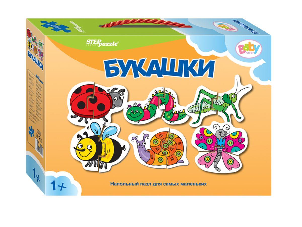 Step Puzzle Напольный пазл Мозаика Букашки70107Напольный пазл-увлекательная и познавательная игра для малышей. Развивают координацию общих движений, сенсорные навыки, внимание и ассоциативное мышление.