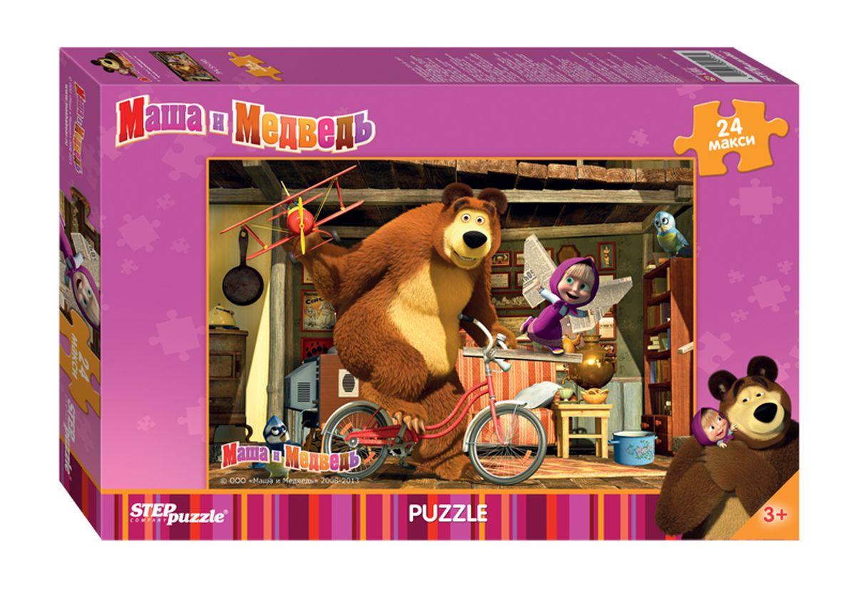 Step Puzzle Мозаика maxi Маша и Медведь90013Озорная Маша и добрый Медведь приглашают принять участие в волшебных приключениях. Собирайте пазлы с любимыми героями популярного мультфильма.