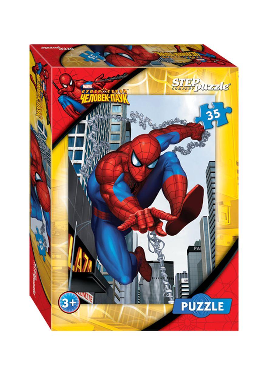 Step Puzzle Мозаика Человек-паук91111Укус радиоактивного паука наделил Питера Паркера удивительными способностями. Потеряв дядю Бена, погибшего от руки грабителя, Питер дал клятву, что будет защищать родной город и перевоплотился в Человека-паука. Питер любит повторять: «Чем больше сила, тем больше ответственность».