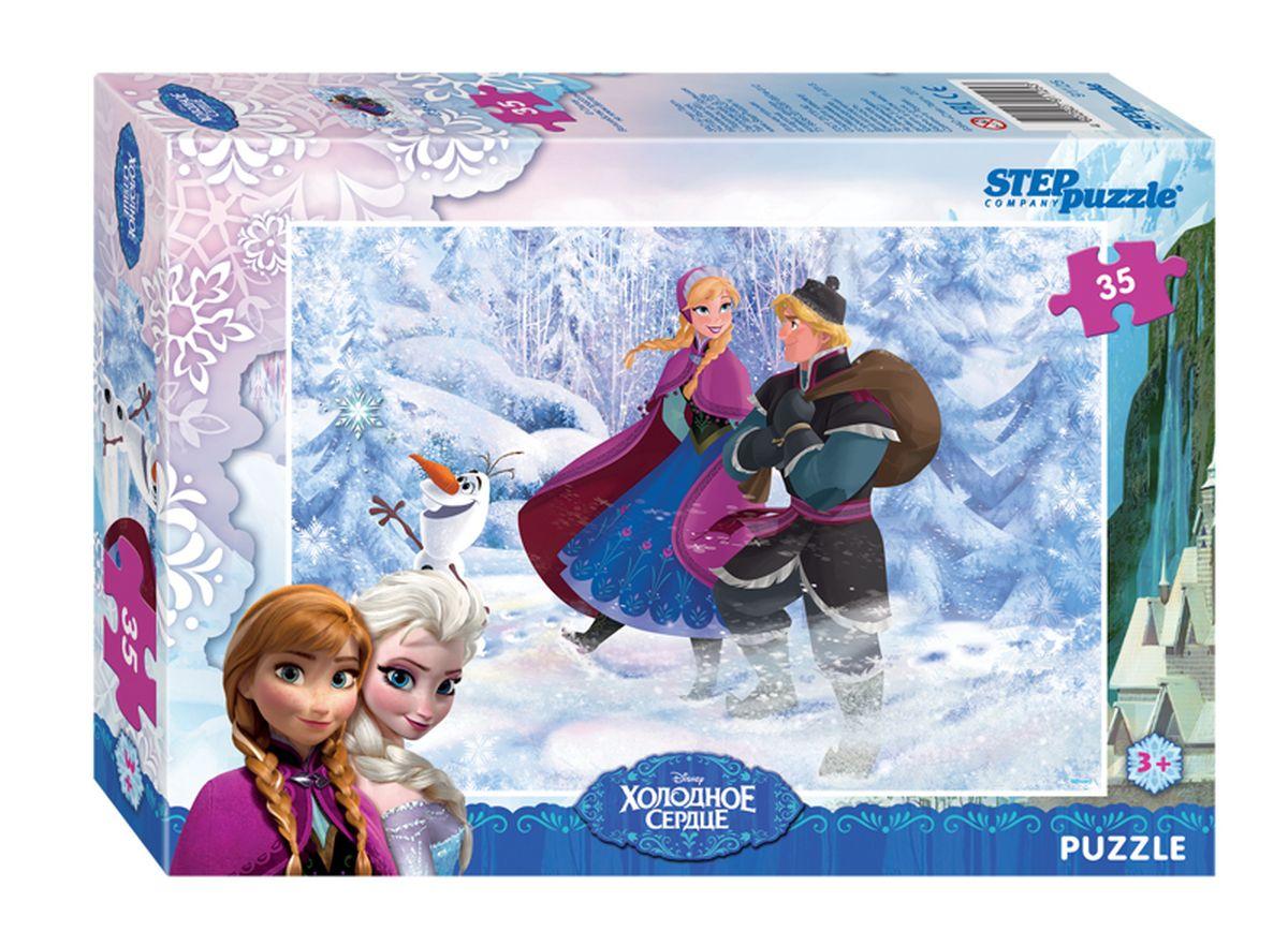 Step Puzzle Мозаика Холодное сердце91125Волшебный дар принцессы Эльзы погружает сказочное королевство Арендейл во власть вечной зимы. Снять ледяное проклятие может только ее родная сестра – принцесса Анна. Для этого она отправляется в горы, где скрывается Эльза. По пути Анна встречает отважного Кристоффера и его верного оленя Олафа. Вместе им предстоит пережить множество опасных приключений и невероятных встреч, чтобы спасти королевство.
