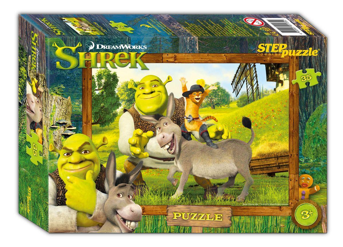 Step Puzzle Мозаика Shrek91135В тридесятом королевстве, на болоте, жил был зеленый великан огр по прозвищу Шрек. Жил не тужил, но в один прекрасный день на его любимую топь пожаловала толпа сказочных героев, согнанных туда, противным лордом Фаркуадом… Соберите пазл и погрузитесь в сказочный мир историй о Шреке.