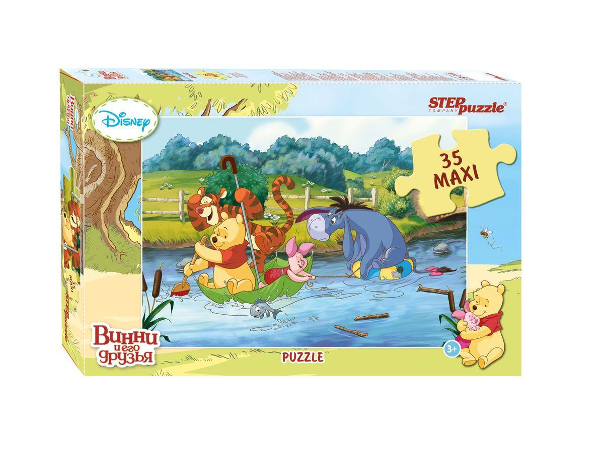 Step Puzzle Мозаика MAXI Медвежонок Винни91209Disney снова приглашает в Большой лес, где Вас ждет новая долгожданная встреча с Винни Пухом и его друзьями. Пазлы с сюжетами о новых приключениях медвежонка Винни, выполнены в классическом стиле знаменитых мультфильмов Disney.