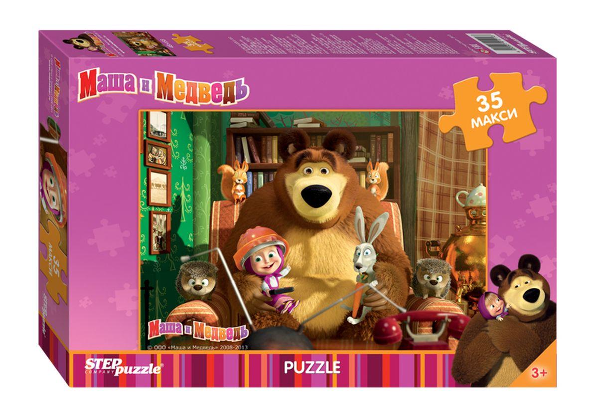 Step Puzzle Мозаика MAXI Маша и Медведь91211Озорная Маша и добрый Медведь приглашают принять участие в волшебных приключениях. Собирайте пазлы с любимыми героями популярного мультфильма.