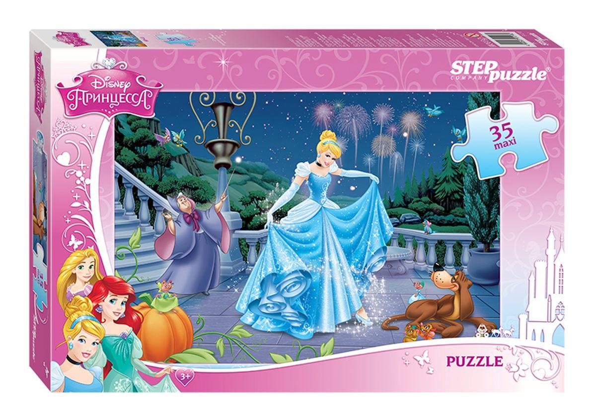 Step Puzzle Мозаика MAXI Золушка91218У Золушки теперь новый потрясающий образ. Сверкающее платье с иголочки, актуальная укладка и свежий макияж подтверждают безупречный вкус и тонкое чувство стиля вечно юной звезды Disney.