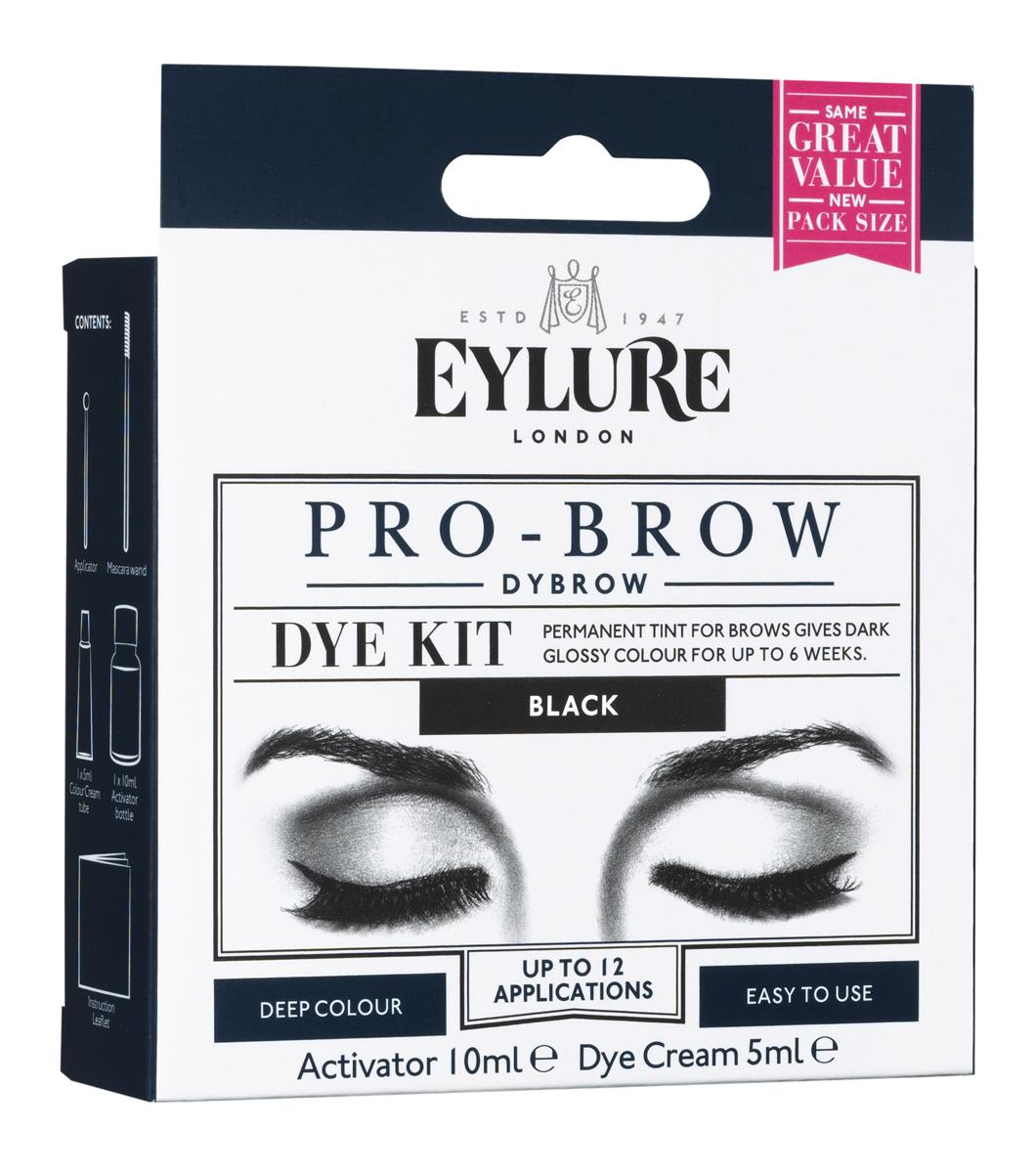 Eylure Dybrow Black Краска для бровей черная Объем: Проявитель 10 мл, Крем-краска 5 мл.5301001Стойкая краска создает яркий, насыщенный цвет бровей, который будет держаться до 45 дней. Шелковистый цвет и специальная разработка Easy-Mix позволяет легко работать с цветом для бровей. Каждый комплект включает в себя щеточку для нанесения, аппликатор и емкость для смешивания и дает возможность использования до 12 раз. Краска доступна в черном и темно-коричневом оттенке.