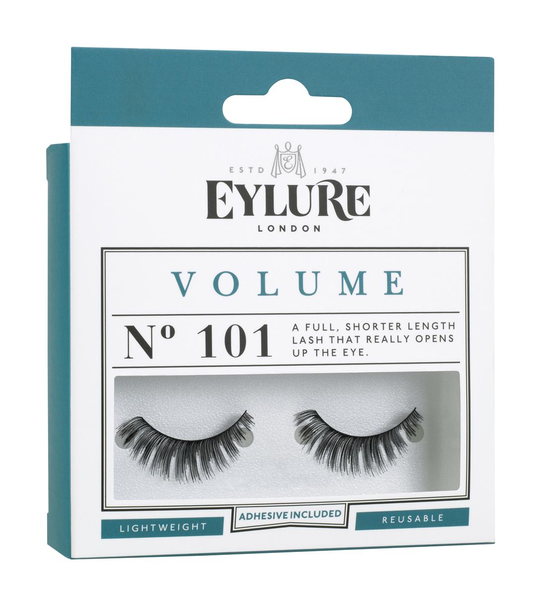 Eylure Накладные ресницы объемные №101 Strip Lashes -VOLUME №1016001115Накладные ресницы из натурального волоса для создания эффекта объема. В набор входит прозрачный клей для накладных ресниц Lashfix Clear.